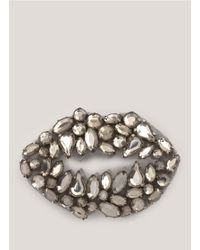 Markus Lupfer | Metallic Gem Lip Brooch | Lyst