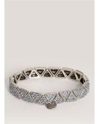 Philippe Audibert - Blue Crystal-embedded Triangle Bead Bracelet - Lyst