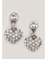 Philippe Audibert | Metallic Crystal-embellished Heart Earrings | Lyst