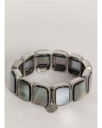 Philippe Audibert - Gray Square Abalone-shell Bead Bracelet - Lyst
