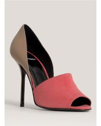 Pierre Hardy - Pink Side Cutout Peep-toe Pumps - Lyst