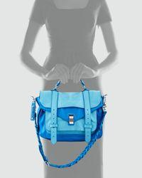 Proenza Schouler - Blue Ps1 Medium Two-tone Satchel - Lyst