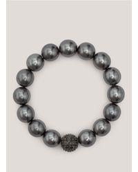 R.j. Graziano | Black Pearl Bracelet | Lyst