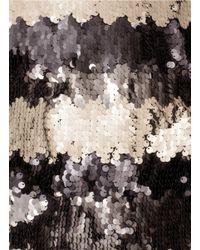 St. John | Multicolor Crepe Marocain Beaded Dress | Lyst