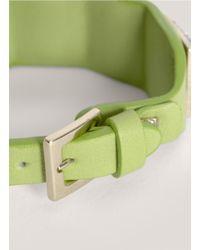 Valentino   Green Crystal-embellished Rock-stud Bracelet   Lyst
