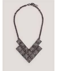 Valentino - Metallic Rockstud Crystal-Pavé Necklace - Lyst