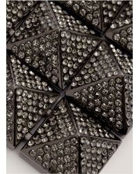 Valentino - Metallic Rockstud Crystal-Pavé Necklace - Lyst