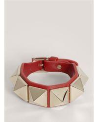 Valentino - Red Rock-stud Bracelet - Lyst