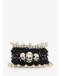 Venessa Arizaga - Black 'london Calling' Bracelet - Lyst