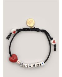 Venessa Arizaga - Black Love You Mucho Bracelet - Lyst