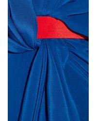 Vionnet | Blue Silk Crepe De Chine Gown | Lyst