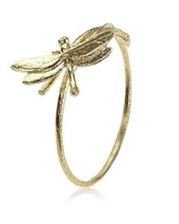 Alex Monroe | Yellow Teeny Tiny Dragonfly Ring | Lyst