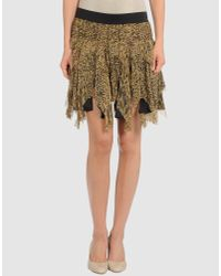 Catherine Malandrino | Multicolor Raw Edge Shredded Skirt | Lyst