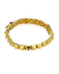 Eddie Borgo | Metallic Small Pyramid Bracelet | Lyst