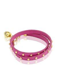 Juicy Couture - Purple Double Wrap Stud Bracelet - Lyst
