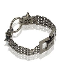 Mawi - Gray Twin Panther Head Bracelet - Lyst