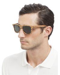 Shwood - Brown Canby Wood Wayfarer Sunglasses for Men - Lyst