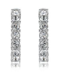 Swarovski | Metallic Beth Crystal Hoop Earrings | Lyst
