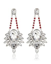 Swarovski | White Tosha Pierced Earrings | Lyst