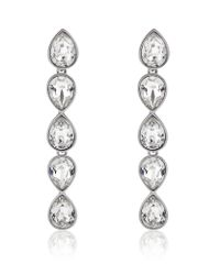 Swarovski | Metallic Talesia Tear Crystal Earrings | Lyst