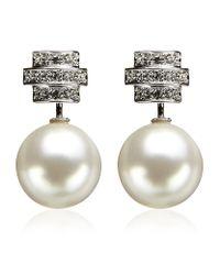 Swarovski   White Perpetual Pierced Earrings   Lyst