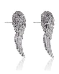 Thomas Sabo | Metallic Feather Wing Earrings | Lyst