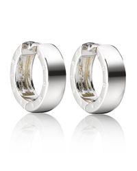 Thomas Sabo - Metallic Small Logo Hoop Earrings - Lyst