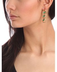BaubleBar - Green Emerald Marquise Link Drops - Lyst