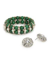 BaubleBar | Green Encrusted Jade Set | Lyst