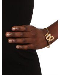 BaubleBar - Metallic Gold Twist Snake Bangle - Lyst