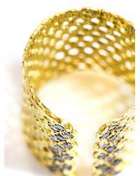 Lara Melchior - Metallic Bague I Black Diamond and Goldplated Ring - Lyst
