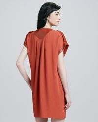 Rachel Zoe | Orange Reyna Capsleeve Dress | Lyst