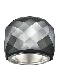 Swarovski - Black Nirvana Silverplated Crystal Ring - Lyst