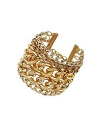 TOPSHOP - Metallic Multi Chain Bracelet - Lyst