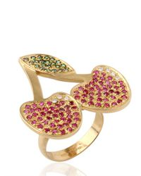 Carolina Bucci | Red Tropicalia Pavé Cherry Ring | Lyst
