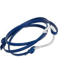 Miansai - Blue Enamel Anchor Wrap Bracelet for Men - Lyst