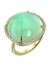 Irene Neuwirth | Green Chrysoprase Stone Ring | Lyst