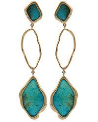 Monique Péan | Blue Three Tier Earrings | Lyst