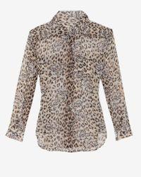 Equipment - Multicolor Leopard Floral Blouse - Lyst