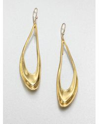 Alexis Bittar - Metallic Open Teardrop Earrings - Lyst