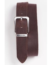 DIESEL | Brown Belt for Men | Lyst