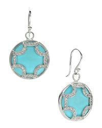 Elizabeth Showers | Blue Turquoise Maltese Hoop Earrings | Lyst
