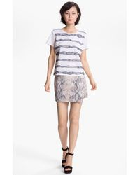 Gryphon   Multicolor Embossed Wrap Skirt   Lyst