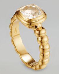 John Hardy | Metallic Batu Bedeg 18k Gold White Topaz Ring Size 7 | Lyst