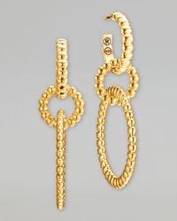 John Hardy - Metallic Bedeg 18K Gold Circle Hoop 2-Drop Earrings - Lyst