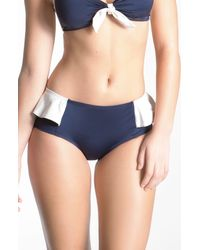 Marc By Marc Jacobs | Blue Colorblock Peplum Hipster | Lyst