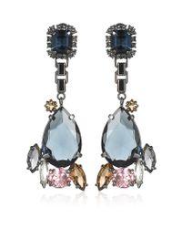 Mawi - Blue Teardrop Crystal Earrings - Lyst