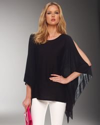 Michael Kors - Black Cold-shoulder Poncho - Lyst