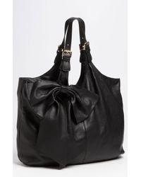 RED Valentino | Black Bow Leather Hobo | Lyst