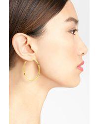 Anne Klein | Metallic Large Hoop Earrings | Lyst